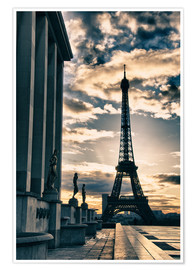 Poster Premium  Colors of Eiffel Tower in Winter