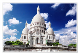 Poster Premium Sacre Coeur Cathedral on Montmartre