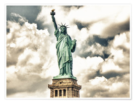 Poster Premium  Statue of Liberty - symbol of New York