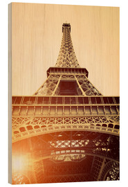 Legno  Vintage Eiffel Tower, Paris
