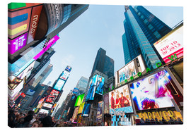 Stampa su tela  Times Square - most popular spot in New York