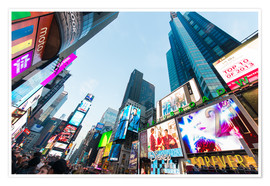 Poster Premium  Times Square - most popular spot in New York