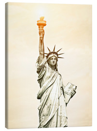Stampa su tela  Liberty Statue in New York, USA