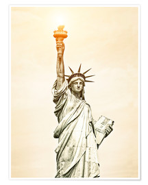 Poster Premium  Liberty Statue in New York, USA