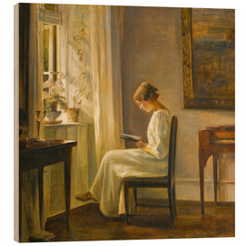 Legno  woman reading - Carl Holsoe