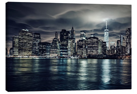 Tela  Manhattan at night, New York City