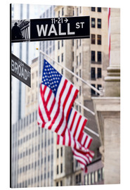 Stampa su alluminio  Wall street sign with New York Stock Exchange