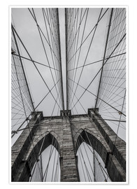 Poster Premium  Ponte di Brooklyn a New York