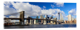 Stampa su vetro acrilico  Panoramic Brooklyn Bridge and Manhattan skyline