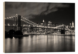 Legno  Brooklyn Bridge - Night scene