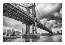 Poster Premium The Manhattan Bridge