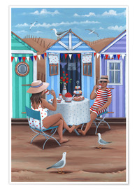 Poster  26242 Beach Huts Afternoon Tease (Variant 1) - Peter Adderley