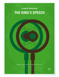 Poster Premium No587 My The Kings Speech minimal movie poster