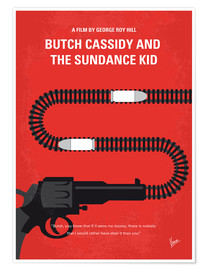 Poster Premium No585 My Butch Cassidy and the Sundance Kid minimal movie poster