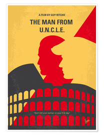 Poster Premium No572 My Man from UNCLE minimal movie poster