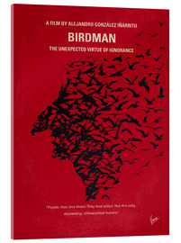 Vetro acrilico  No604 My Birdman minimal movie poster - chungkong