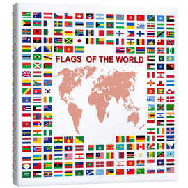Stampa su tela  Flags of the world
