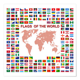 Poster Premium  Flags of the world