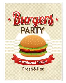 Poster Premium  Hamburger Party