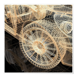 Poster Premium  abstract car wheels