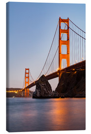 Stampa su tela  Golden Gate Bridge di San Francisco al tramonto