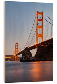 Stampa su legno  ?San Francisco Golden Gate Bridge at sunset