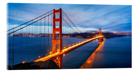 Stampa su vetro acrilico  Golden Gate Bridge a San Francisco