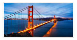 Poster Premium  Golden Gate Bridge a San Francisco