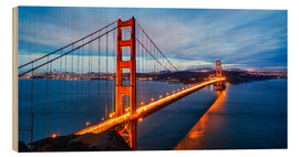 Stampa su legno  Golden Gate Bridge a San Francisco
