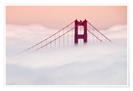 Poster Premium  Golden Gate Bridge in the clouds