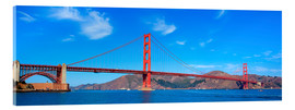 Stampa su vetro acrilico  panoramic view of Golden Gate Bridge