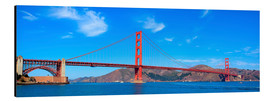 Stampa su alluminio  panoramic view of Golden Gate Bridge