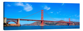 Stampa su tela  panoramic view of Golden Gate Bridge