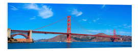 Stampa su schiuma dura  panoramic view of Golden Gate Bridge