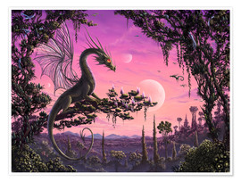 Poster  Dragon in Paradise - Susann H.