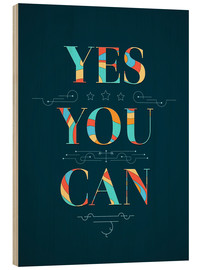 Stampa su legno  Yes you can - Typobox