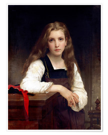 Poster Premium  The small spinner - William Adolphe Bouguereau