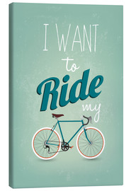 Tela  I want to ride my bike - Typobox