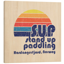 Stampa su legno  Stand up paddling in Norway - Typobox
