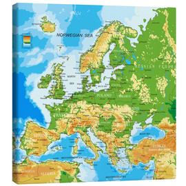 Stampa su tela  Europe map
