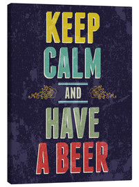 Stampa su tela  Keep calm and have a beer - Typobox