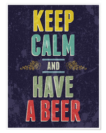 Poster Premium  Keep calm and have a beer - Typobox