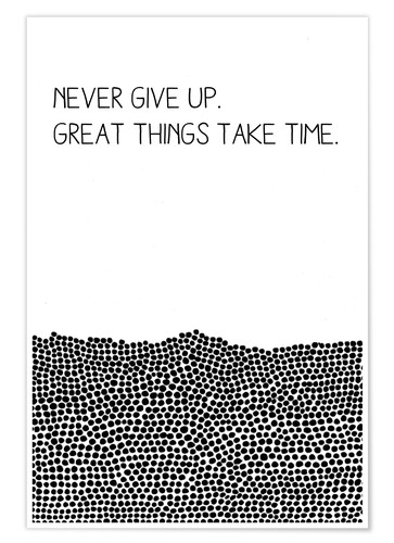 Poster Premium Never Give Up