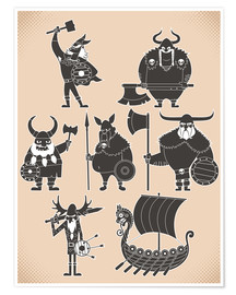 Poster Premium  Fearless Vikings - Kidz Collection