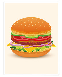 Poster Premium  Cheese burger