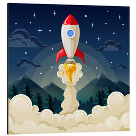 Stampa su alluminio  Rocket take-off - Kidz Collection