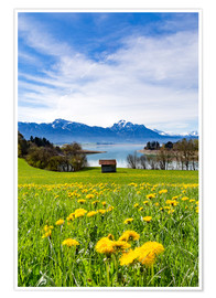 Poster Premium  Bavarian Landscape with Mountains - Michael Helmer
