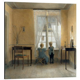 Stampa su alluminio  At the window - Peter Vilhelm Ilsted