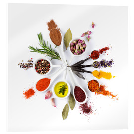 Spices and herbs clock