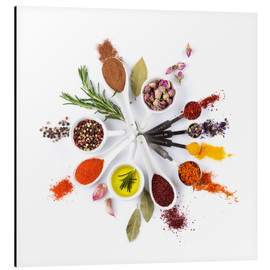 Stampa su alluminio  Spices and herbs clock